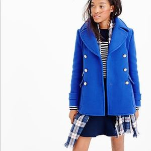 J Crew Stadium Peacoat in Blue Deep Pacific